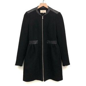 Zara Trafaluc Black Wool Long Jacket - Size S